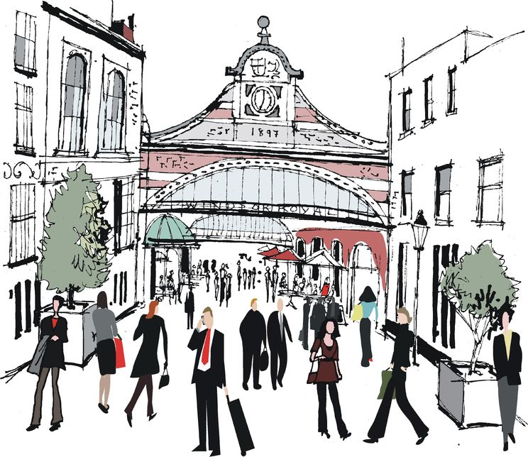 Windsor station illustration